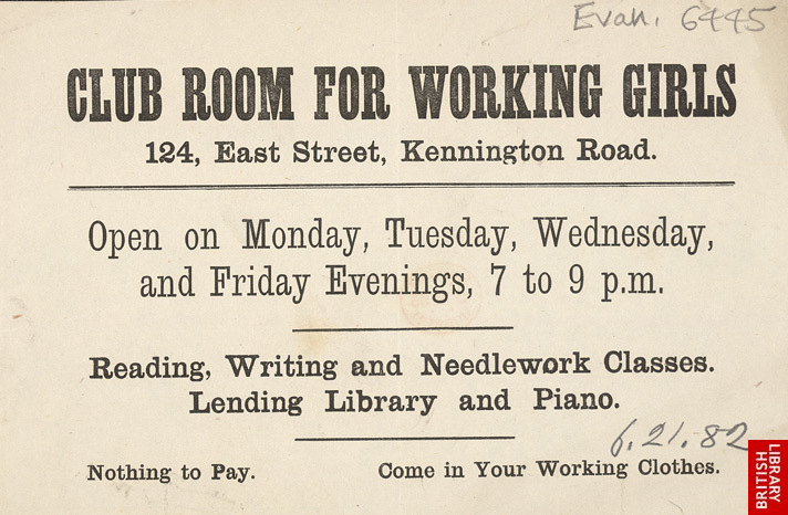 Advert For A Club Room For Working Girls